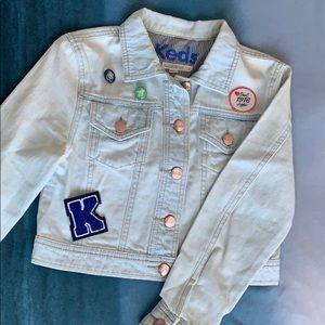 KEDS Light Washed Cropped Jean Jacket